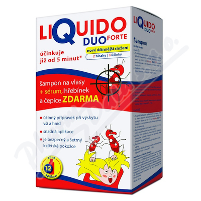LiQuido DUO FORTE šampon vši 200ml+sérum