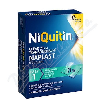 Niquitin Clear 21mg tdr.emp.7ks