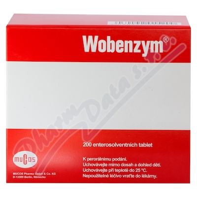 Wobenzym 200 enterosolventnich tablet